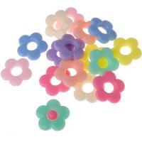 Acryl Zwischenperlen, Blume, Spritzgießen, keine, 19mm, Bohrung:ca. 3mm, ca. 540PCs/Tasche, verkauft von Tasche