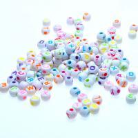 Acryl Schmuck Perlen, Spritzgießen, gemischte Farben, 5x7mm, Bohrung:ca. 1mm, ca. 6200PCs/kg, verkauft von kg