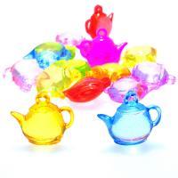 Acryl Anhänger, Teekanne, Spritzgießen, keine, 26x10x23mm, Bohrung:ca. 1mm, ca. 228PCs/Tasche, verkauft von Tasche