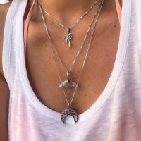 Mode-Multi-Layer-Halskette, Zinklegierung, plattiert, mehrschichtig & für Frau, keine, frei von Nickel, Blei & Kadmium, verkauft von Strang