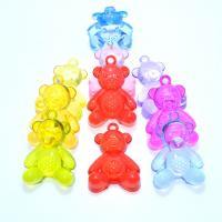 Acryl Anhänger, Bär, Spritzgießen, verschiedene Größen vorhanden, keine, Bohrung:ca. 1mm, verkauft von Tasche