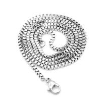Halskette, Edelstahl, plattiert, unisex & verschiedene Größen vorhanden, Silberfarbe, 10SträngeStrang/Menge, verkauft von Menge