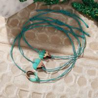 Nylonschnur Armband, mit Holz & Kunststoff, unisex & verschiedene Stile für Wahl, grün, 336mm,18mm, verkauft von Strang