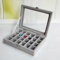 Ablagekasten, Baumwollsamt, Multifunktions & verschiedene Stile für Wahl, grau, 200x150x45mm, verkauft von PC