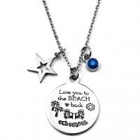 Titanstahl Halskette, plattiert, unisex & mit Strass, keine, 25MM, Länge:23.6 ZollInch, 2SträngeStrang/Menge, verkauft von Menge