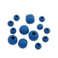 Holzperlen, Holz, DIY & verschiedene Größen vorhanden, blau, verkauft von Tasche