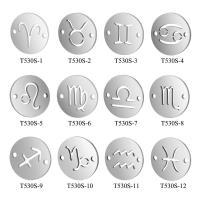 Edelstahl-Konstellation -Anhänger, Edelstahl, Platinfarbe platiniert, verschiedene Stile für Wahl, 12x12mm, 10PCs/Menge, verkauft von Menge