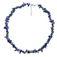 Natürlicher Kies Halskette, mit Zinklegierung, mit Verlängerungskettchen von 1.96lnch, verschiedenen Materialien für die Wahl & für Frau, verkauft per ca. 14.9 ZollInch Strang