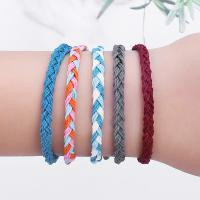 Gewachsten Baumwollkordel Armband, rund, gewebte Muster & für Frau, keine, frei von Nickel, Blei & Kadmium, 280mm, verkauft von PC