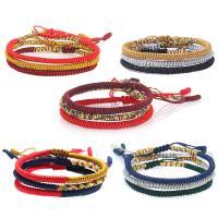 Nylonschnur Armband, rund, Folk-Stil & unisex & gewebte Muster, keine, frei von Nickel, Blei & Kadmium, 160mm, verkauft von PC