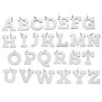 Edelstahl Brief Anhänger, verschiedene Stile für Wahl, originale Farbe, 5PCs/Menge, verkauft von Menge