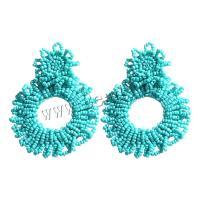 Seedbead Tropfen Ohrring, Bohemian-Stil & für Frau, keine, 76mm, verkauft von Paar