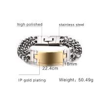 Edelstahl Schmuck Armband, für den Menschen, keine, 18mm, verkauft per ca. 8.8 ZollInch Strang