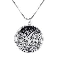 Messing Medaillon-Halskette, mit Verlängerungskettchen von 5cm, für Frau, keine, frei von Nickel, Blei & Kadmium, 32x32mm, verkauft per ca. 15.7 ZollInch Strang