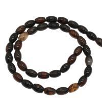 Natürliche Streifen Achat Perlen, plattiert, braun, 6x6x9mm, Bohrung:ca. 1mm, 43PCs/Strang, verkauft von Strang