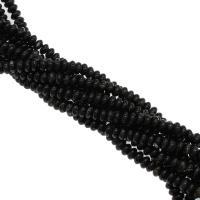 Natürliche Streifen Achat Perlen, plattiert, schwarz, 8x8x5mm, Bohrung:ca. 1mm, verkauft von Strang