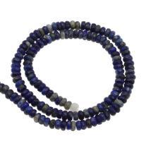 Lapislazuli Perlen, plattiert, blau, 4x4x3mm, Bohrung:ca. 1mm, 200PCs/Strang, verkauft von Strang