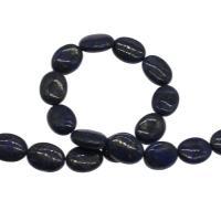 Lapislazuli Perlen, plattiert, blau, 13x16x6mm, Bohrung:ca. 1mm, 25PCs/Strang, verkauft von Strang