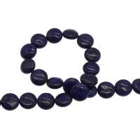 Lapislazuli Perlen, plattiert, blau, 17x17x6mm, Bohrung:ca. 1mm, 32PCs/Strang, verkauft von Strang