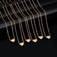 Titanstahl Halskette, mit Verlängerungskettchen von 5cm, Herz, goldfarben plattiert, Oval-Kette & verschiedene Stile für Wahl & für Frau, keine, 12x11mm, verkauft per ca. 17.72 ZollInch Strang