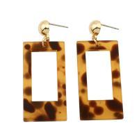 Acryl Tropfen Ohrring, Rechteck, plattiert, für Frau, keine, 20x39x3mm, verkauft von Paar