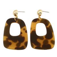 Acryl Tropfen Ohrring, plattiert, verschiedene Stile für Wahl & für Frau, 32*39*3mm-39*37*3mm, verkauft von Paar
