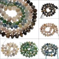 Achat Perlen, verschiedenen Materialien für die Wahl, 14x10mm/20x13mm, Bohrung:ca. 2mm, ca. 28PCs/Strang, verkauft von Strang