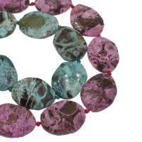 Achat Perlen, keine, 31x42x8mm, Bohrung:ca. 3mm, ca. 9PCs/Strang, verkauft von Strang