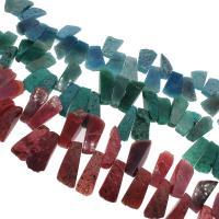 Natürliche Eis Quarz Achat Perlen, Eisquarz Achat, keine, 24x61x14mm/37x19x14mm, Bohrung:ca. 2mm, ca. 27PCs/Strang, verkauft von Strang