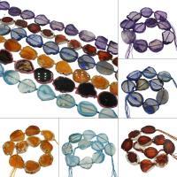 Natürliche Eis Quarz Achat Perlen, Eisquarz Achat, keine, 46x62x9mm/29x35x7mm, Bohrung:ca. 2mm, ca. 11PCs/Strang, verkauft von Strang