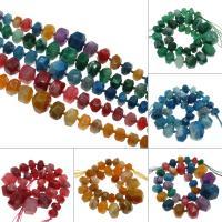 Natürliche Streifen Achat Perlen, keine, 29x19mm/15x10mm, Bohrung:ca. 2mm, ca. 29PCs/Strang, verkauft von Strang