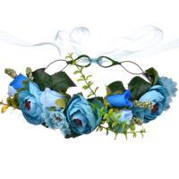 Brautkranz, Stoff, Blume, handgemacht, einstellbar & für Frau, keine, 180mm, Bohrung:ca. 1mm, verkauft von PC
