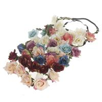 Stirnband, Stoff, Blume, handgemacht, elastisch & für Frau, keine, 180mm, verkauft von PC