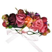 Brautkranz, Stoff, Blume, handgemacht, einstellbar & für Frau, farbenfroh, 180mm, verkauft von PC