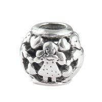 Zink Legierung Perlen Schmuck, Zinklegierung, plattiert, DIY, Silberfarbe, frei von Nickel, Blei & Kadmium, 12*10mm, 30PCs/Tasche, verkauft von Tasche