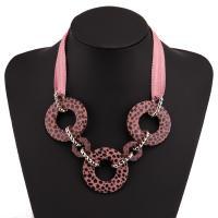 Acryl Halskette, mit Baumwolle Schnur, plattiert, für Frau, keine, verkauft von Strang