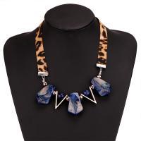 Harz Halskette, mit Baumwolle Schnur, plattiert, für Frau, keine, verkauft von Strang