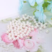 ABS-Kunststoff-Perlen Perle, rund, plattiert, DIY & verschiedene Größen vorhanden, weiß, 10Taschen/Menge, 500G/Tasche, verkauft von Menge