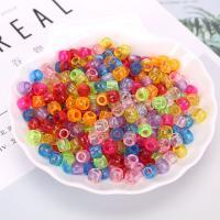 Polystyrol Perle, plattiert, DIY, gemischte Farben, 6*8mm, 500G/Tasche, verkauft von Tasche