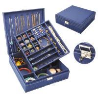 Baumwollsamt Schmuckset Kasten, mehrschichtig & für Frau, keine, 260x260x90mm, -3/setzen, verkauft von setzen