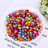Perlen in Perlen Acrylperlen, Acryl, plattiert, verschiedene Größen vorhanden, gemischte Farben, 500G/Tasche, verkauft von Tasche