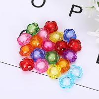 Perlen in Perlen Acrylperlen, Acryl, Blume, plattiert, verschiedene Größen vorhanden, gemischte Farben, 500G/Tasche, verkauft von Tasche