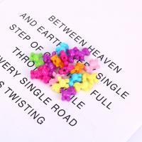 Acryl Schmuck Perlen, plattiert, DIY, gemischte Farben,  17*17mm, 500/Tasche, verkauft von Tasche
