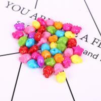 Acryl Schmuck Perlen, Apfel, plattiert, DIY, gemischte Farben, 11mm, 500G/Tasche, verkauft von Tasche