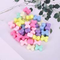 Acryl Schmuck Perlen, Schleife, plattiert, DIY, gemischte Farben,  15*11mm, 500G/Tasche, verkauft von Tasche