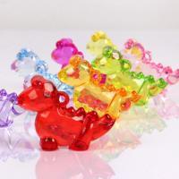 Acryl Anhänger, Dinosaurier, plattiert, DIY, gemischte Farben, 50mm*38mm*18mm, 500G/Tasche, verkauft von Tasche