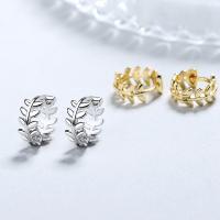 925 Sterling Silber Ohrringe, 925er Sterling Silber, Kreisring, versilbert, für Frau, keine, 10x5mm, verkauft von Paar