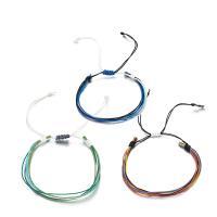Nylonschnur Armbänder, plattiert, für Frau, gemischte Farben, verkauft von setzen