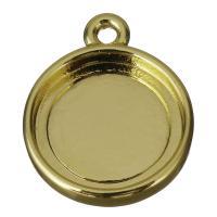 Messing Anhänger Zubehör, goldfarben, frei von Nickel, Blei & Kadmium, 12x14.5x2.5mm,10.5mm, Bohrung:ca. 1.5mm, 20PCs/Menge, verkauft von Menge