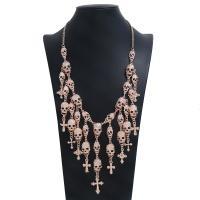 Mode Statement Halskette, Zinklegierung, Schädel, plattiert, für Frau, keine, frei von Nickel, Blei & Kadmium, 118mm, Länge:22 ZollInch, 2SträngeStrang/Menge, verkauft von Menge